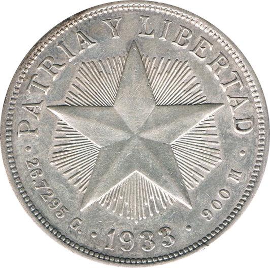 CUBA. 1 PESO. 1.933