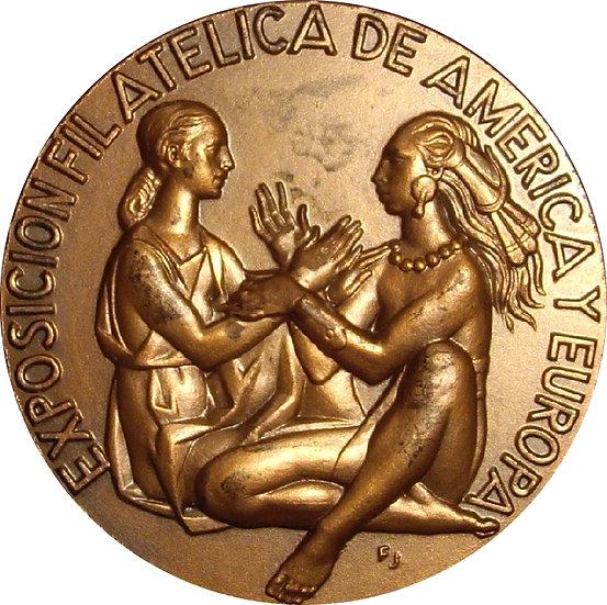 MEDALLA EXPOSICIÓN FILATÉLICA DE AMÉRICA Y EUROPA. 1.980