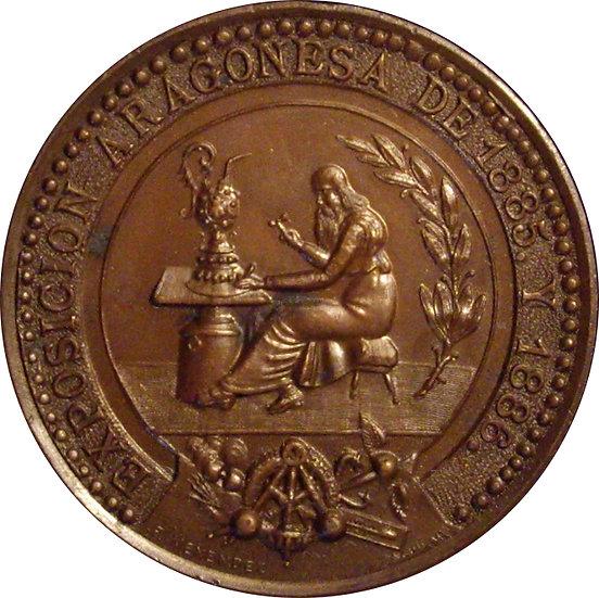 ALFONSO XIII. MEDALLA EXPOSICIÓN ARAGONESA. 1.886