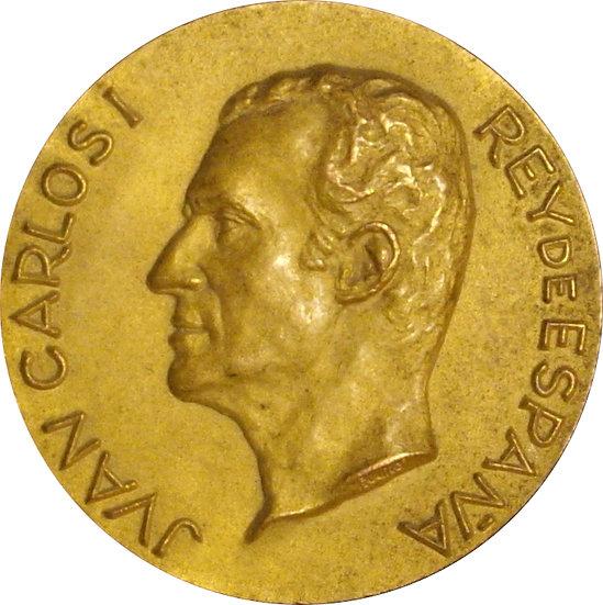 ESPAÑA. JUAN CARLOS I. MEDALLA PRIMERA VISITA TARRAGONA. 1.976