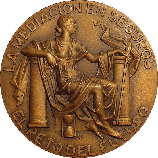ESPAÑA. MEDALLA IV CONGRESO AGENTES Y CORREDORES SEGUROS. 1.988