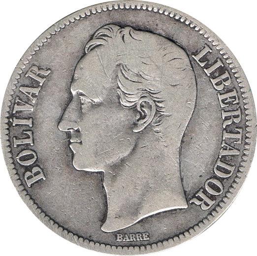 VENEZUELA. 5 BOLÍVARES 1.921
