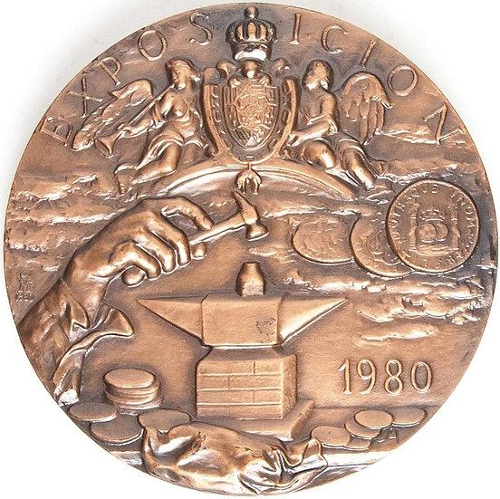 ESPAÑA. MEDALLA F.N.M.T. HACIENDA PÚBLICA. 1.980