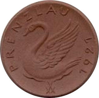 ALEMANIA. 1/2 UCKER MARK TOKEN 1.921. PRENZLAU
