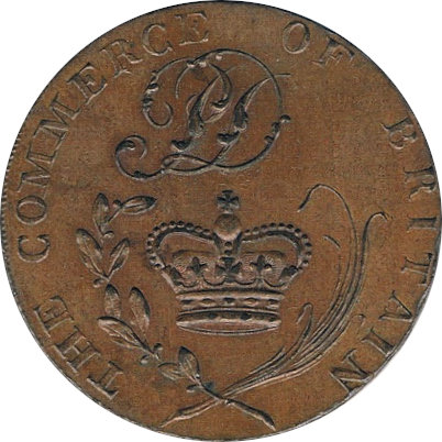 INGLATERRA. 1/2 PENNY TOKEN. THE COMMERCE OF BRITAIN