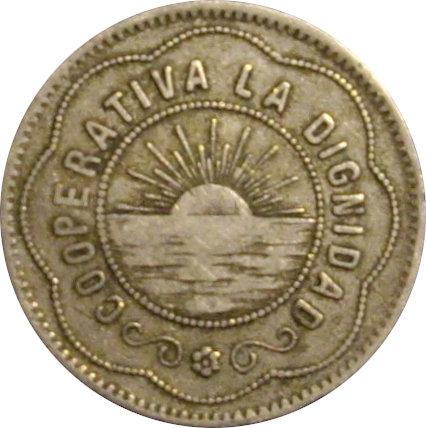 ESPAÑA. COOPERATIVA LA DIGNIDAD. 5 PESETAS