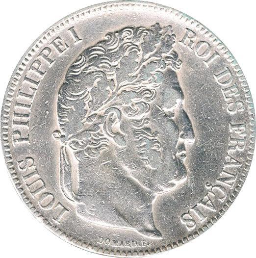 FRANCIA. LUIS FELIPE I, 5 FRANCOS 1.832 PERPIGNAN