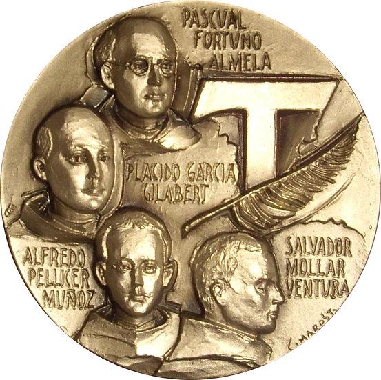 MEDALLA MÁRTIRES HERMANOS MENORES. VALENCIA 2001