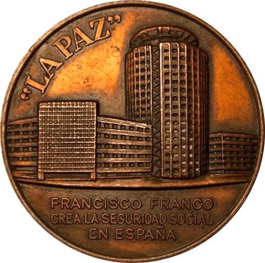 ESPAÑA. MEDALLA X ANIVERSARIO MUERTE GRANCISCO FRANCO. 1.985