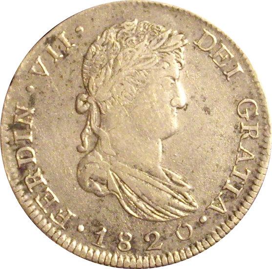 ESPAÑA. FERNANDO VII. 8 REALES 1.820 ZACATECAS