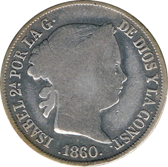 ESPAÑA. ISABEL II. 4 REALES. 1.860 BARCELONA