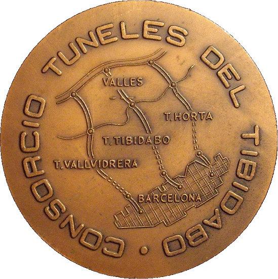 ESPAÑA. MEDALLA CONSORCIO TÚNELES DEL TIBIDABO. 1.972