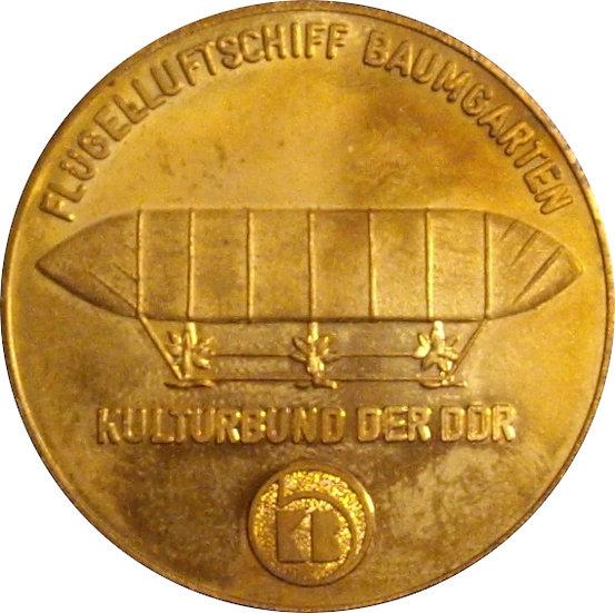 ALEMANIA. MEDALLA EXPOSICIÓN CORREO AÉREO 1er DISTRITO AUGUSTUSBURG (RDA). 1989