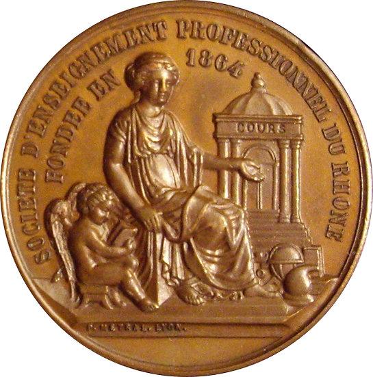 FRANCIA. MEDALLA FORMACIÓN PROFESIONAL RÓDANO. 1.893