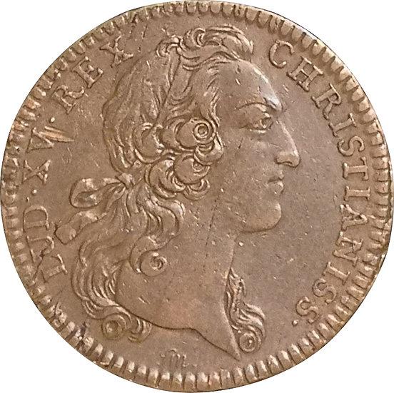 FRANCIA. LUIS XV. JETÓN FATALIS SOPOR. 1.742