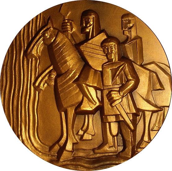 ESPAÑA. MEDALLA F.N.M.T. SERIE RÍOS ESPAÑA. JALÓN. 1.987
