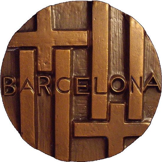 ESPAÑA. MEDALLA F.N.M.T. SERIE CIUDADES BARCELONA. 1.978
