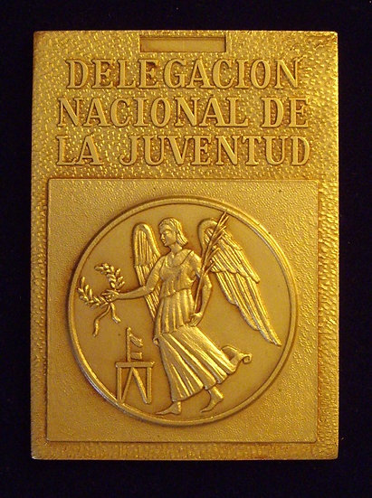 ESPAÑA. PLACA XXIII JUEGOS ESCOLARES NACIONALES. MADRID. 1.971