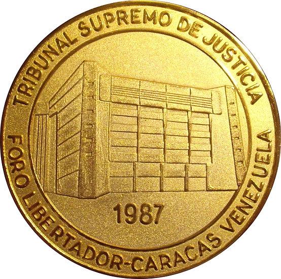 VENEZUELA.MEDALLA TRIBUNAL SUPREMO JUSTICIA. 1.987