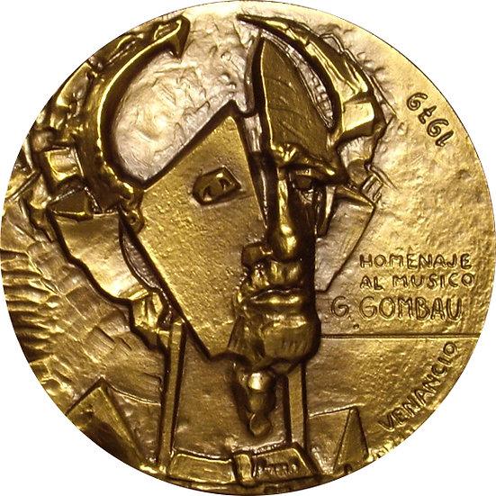MEDALLA F.N.M.T. HOMENAJE MÚSICO G. GOMBAU 1.982