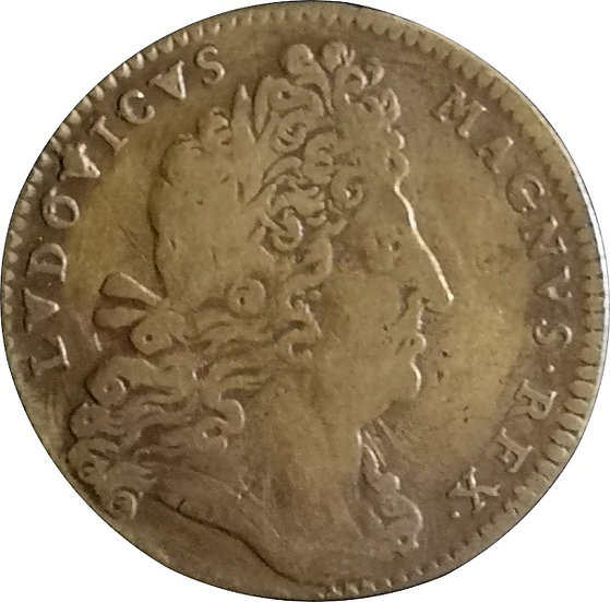 FRANCIA. LUIS XIV. JETÓN LATE CVNTA PROFUVNDIT