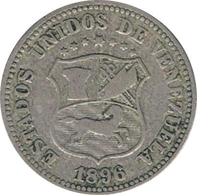 VENEZUELA. 5 CÉNTIMOS 1.896