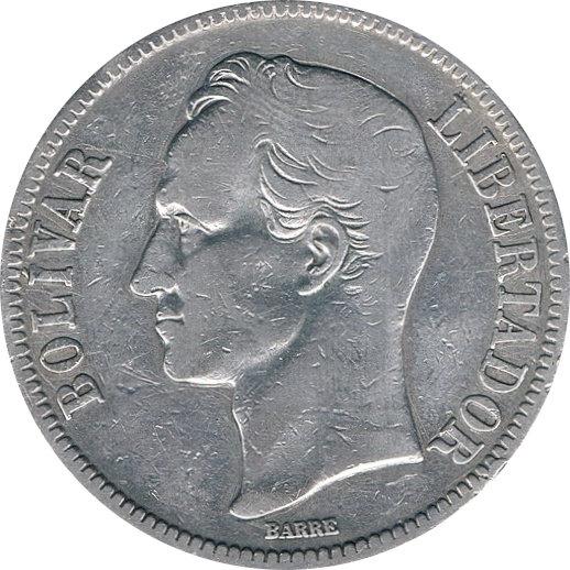 VENEZUELA. 5 BOLÍVARES 1.919