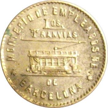 ESPAÑA. TRANVÍAS DE BARCELONA. 50 CÉNTIMOS. 1.916