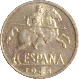 ESPAÑA. FRANCISCO FRANCO. 10 CÉNTIMOS 1.945
