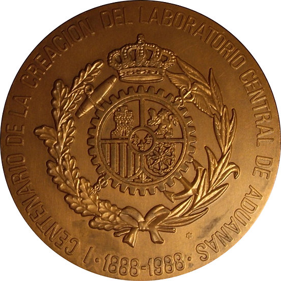 ESPAÑA. MEDALLA F.N.M.T. LABORATORIO DE ADUANAS. 1.988