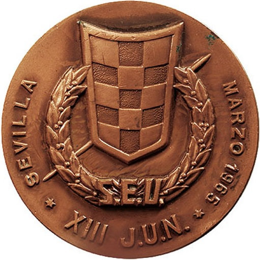 ESPAÑA. MEDALLA SINDICATO ESPAÑOL UNIVERSITARIO. SEVILLA 1.965