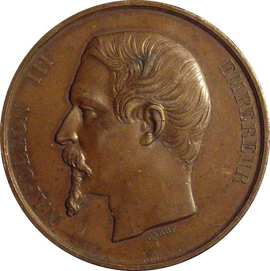 FRANCIA. NAPOLEÓN III. MEDALLA PREMIO LYON. 1.855