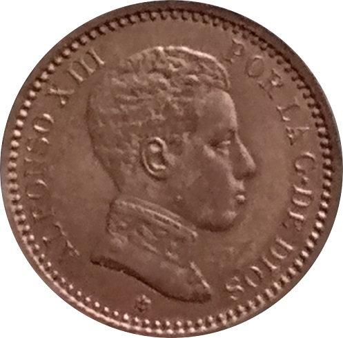 ESPAÑA. ALFONSO XIII.  2 CÉNTIMOS 1904*04 SM-V