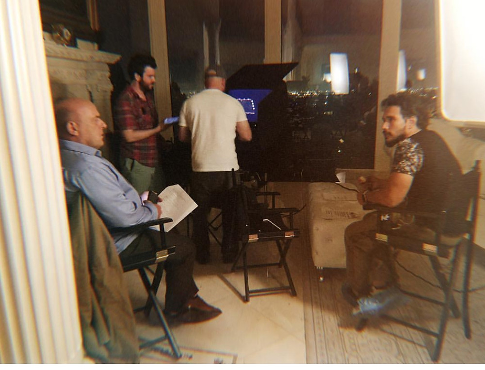On set with Dean Norris and Director Satntiago Salviche