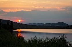 Sunset on Beauvais Lake, AB