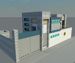 Vista 3D Casa Habitación.