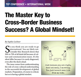The Master Key to Cross Border Business Success? A Global Mindset