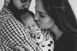 Neugeborene Familie