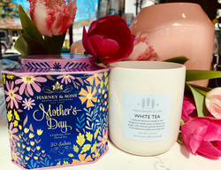 mother's day tea and candle