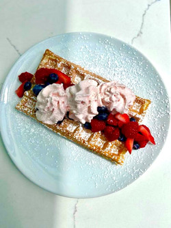 spring berry waffle