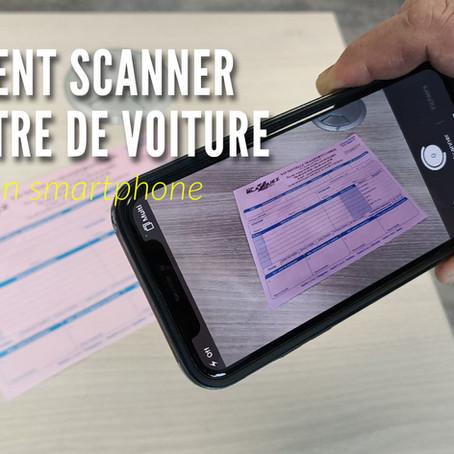 Comment scanner une lettre de voiture avec son smartphone ?