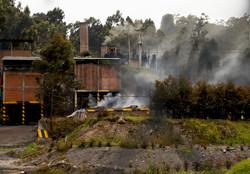 Quema de carbón