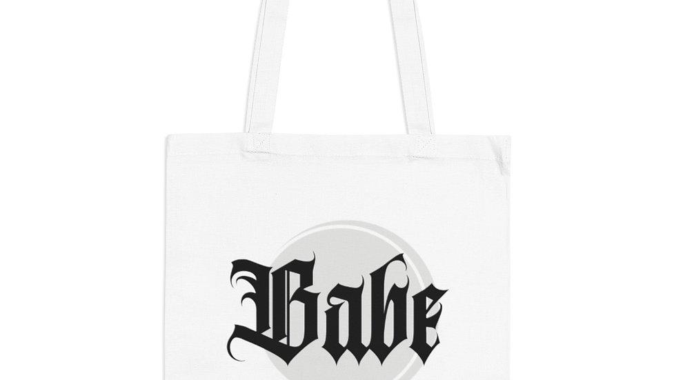 Babe Tote Bag B&W