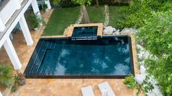 Glass Tile pool Oasis Pool and Spa Cayman Islands