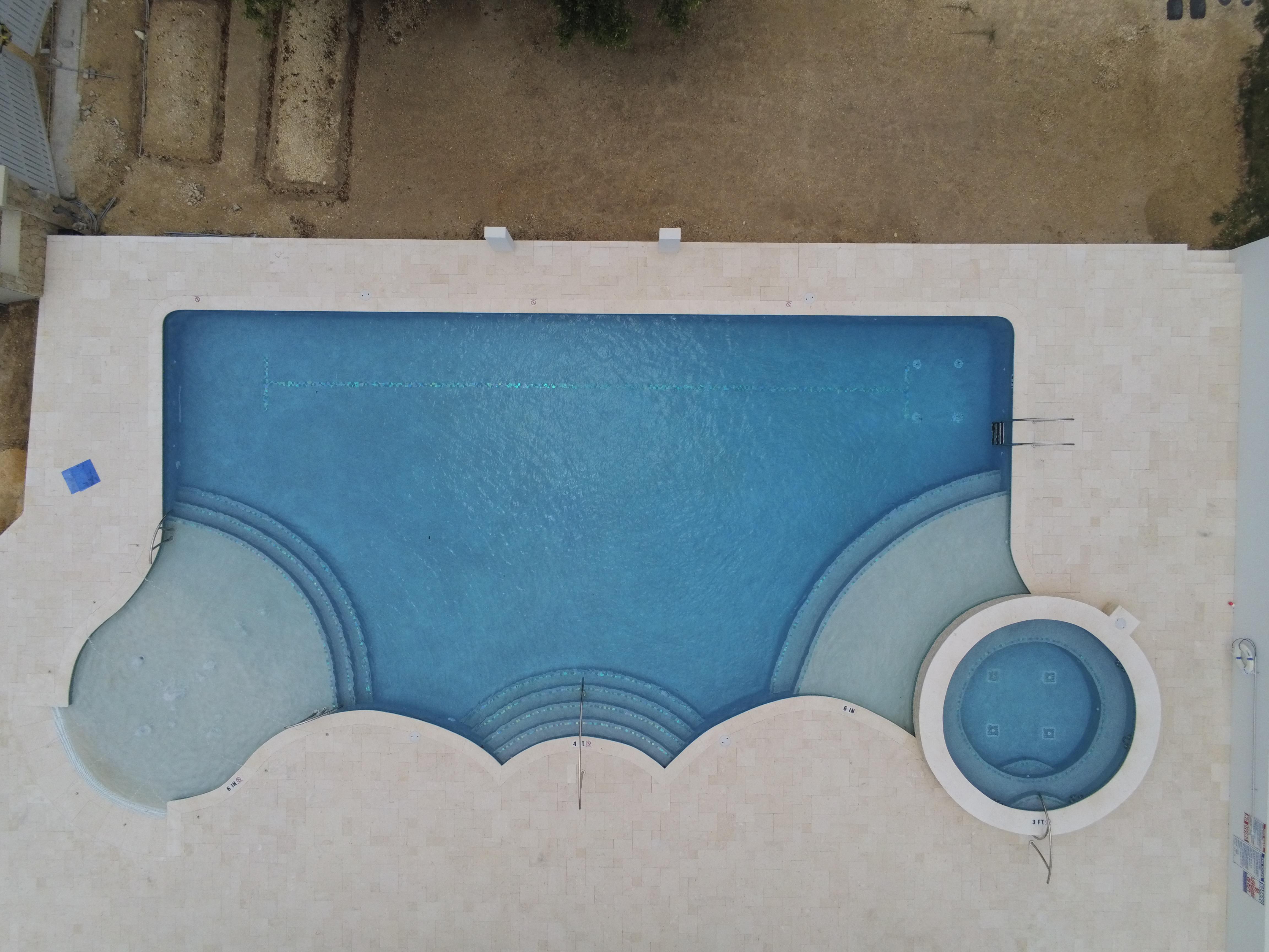 Free form mix pool Oasis Pools Cayman Islands