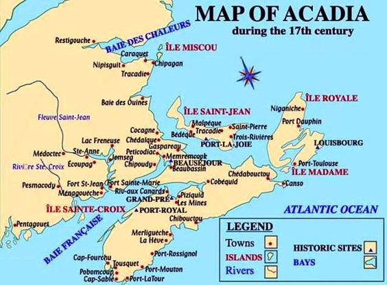 map of Acadia