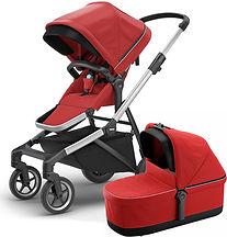 thule-sleek-stroller-bassinet-energy-red