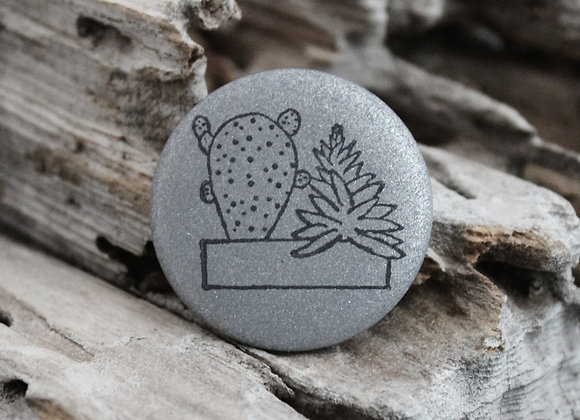 succulents, small pin