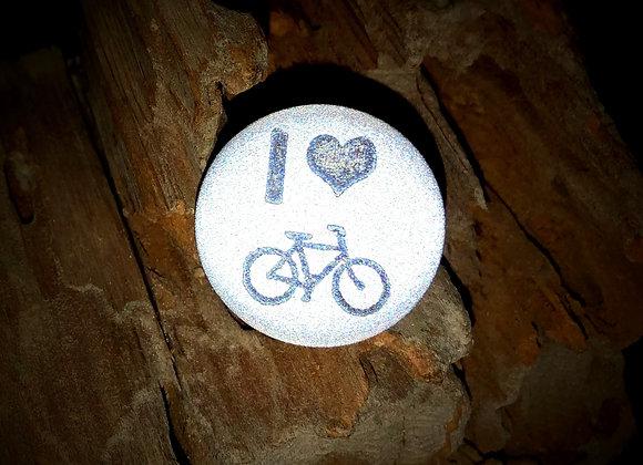 I heart bike, small pin