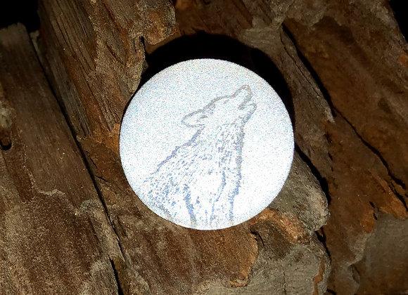 wolf, small pin